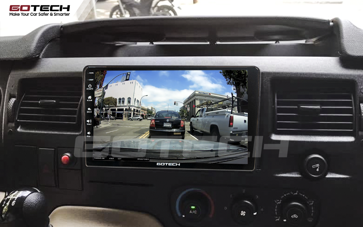 Kết nối với camera hành trình trên màn hình android GOTECH cho xe Ford Transit