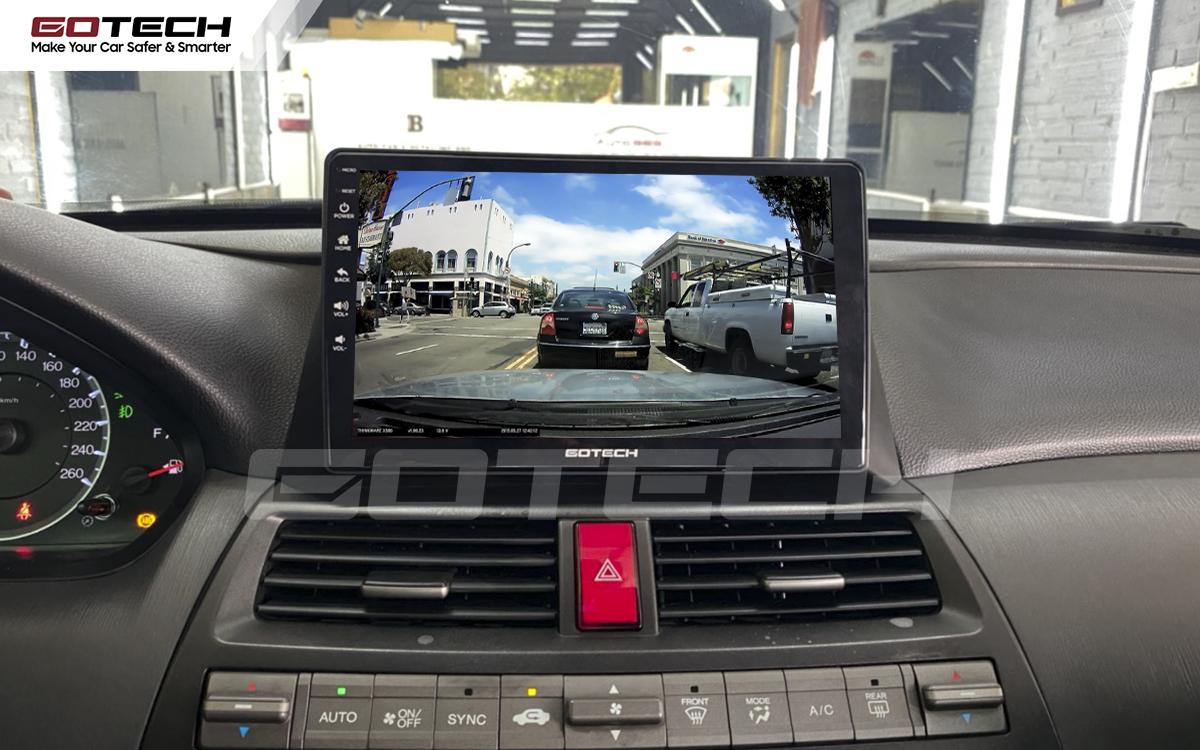 Kết nối với camera hành trình trên màn hình android GOTECH cho xe Honda Accord 2007-2013