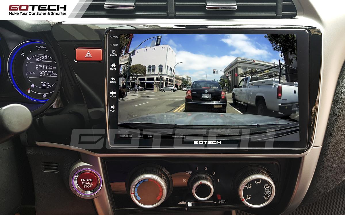 Kết nối với camera hành trình trên màn hình android GOTECH cho xe Honda City 2014-2020