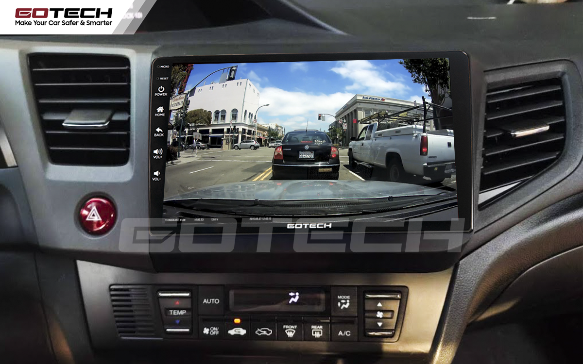 Kết nối với camera hành trình trên màn hình android GOTECH cho xe Honda Civic 2013-2015