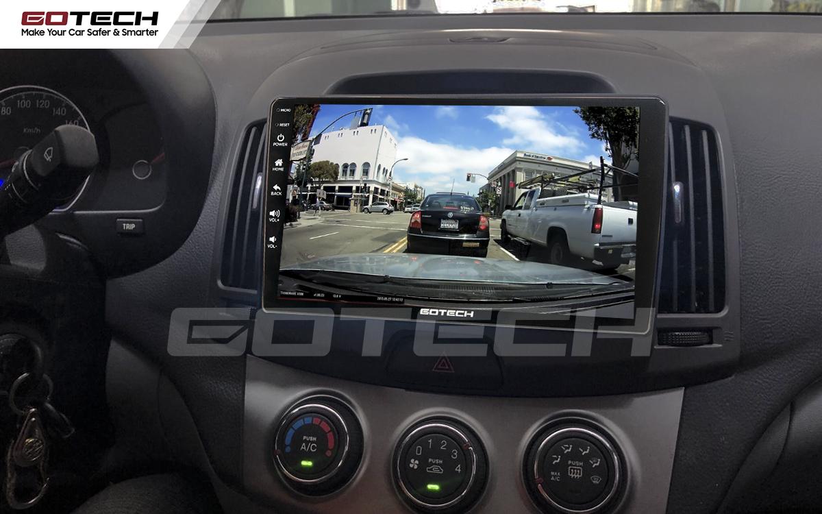 Kết nối với camera hành trình trên màn hình android GOTECH cho xe Hyundai Avante 2008-2016