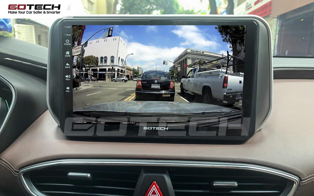 Kết nối với camera hành trình trên màn hình android GOTECH cho xe Hyundai Santafe 2019-2020