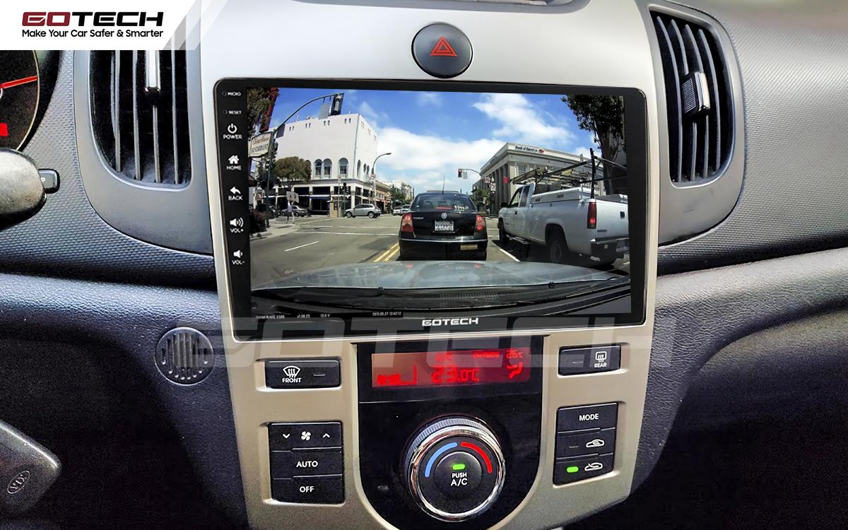 Kết nối với camera hành trình trên màn hình android GOTECH cho xe Kia Forte 2008-2013