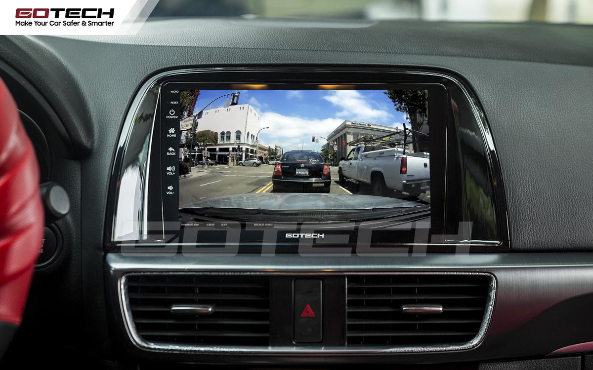 Kết nối với camera hành trình trên màn hình android GOTECH cho xe Mazda Cx5 2013-2015