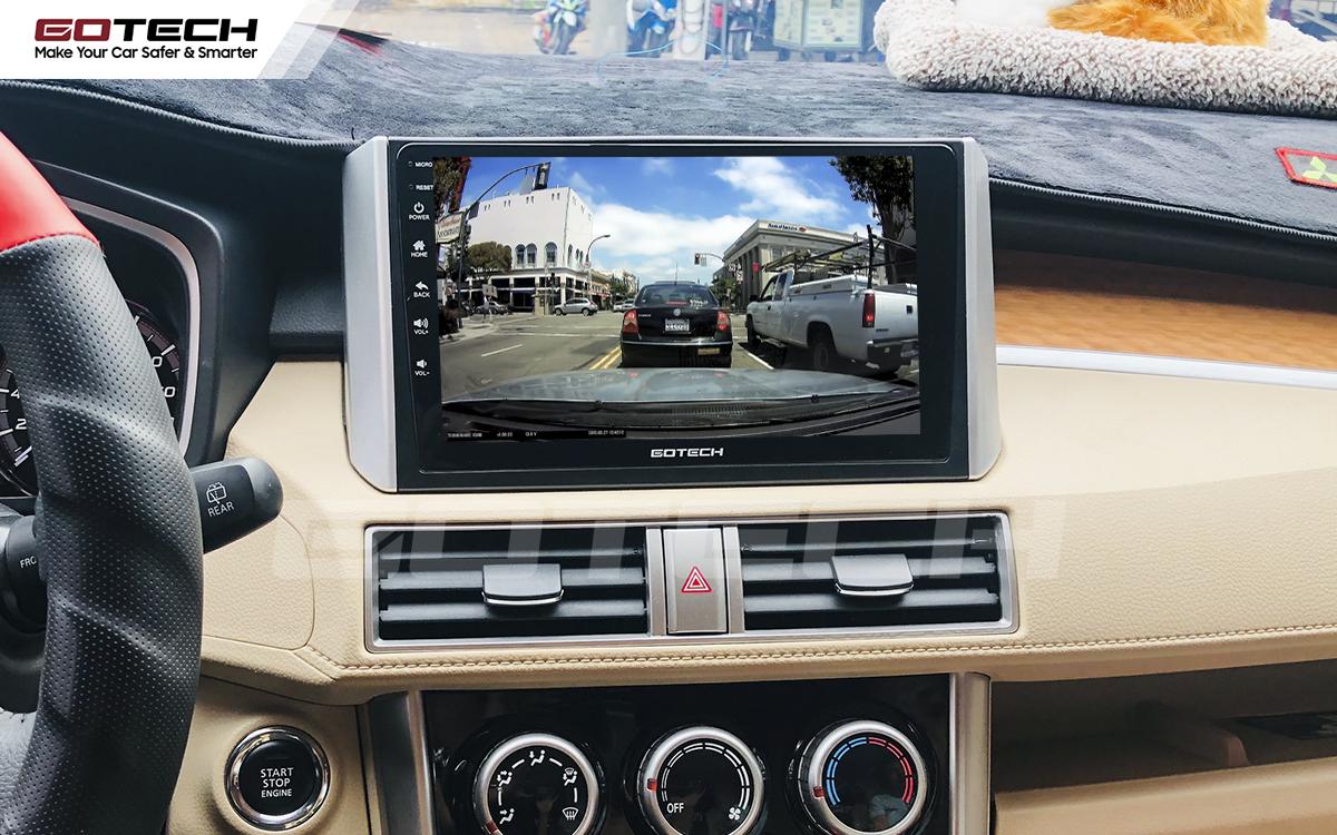 Kết nối với camera hành trình trên màn hình android GOTECH cho xe Mitsubishi Xpander 2018-2020