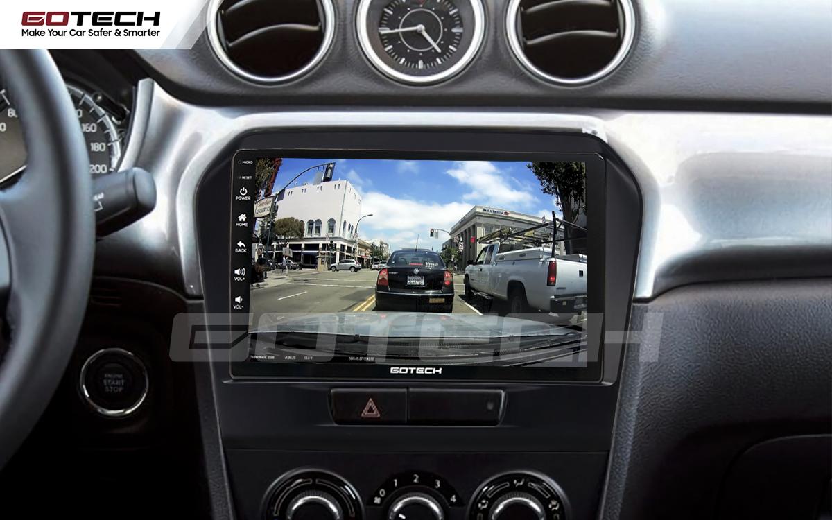 Kết nối với camera hành trình trên màn hình android GOTECH cho xe Suzuki Vitara 2016-2018