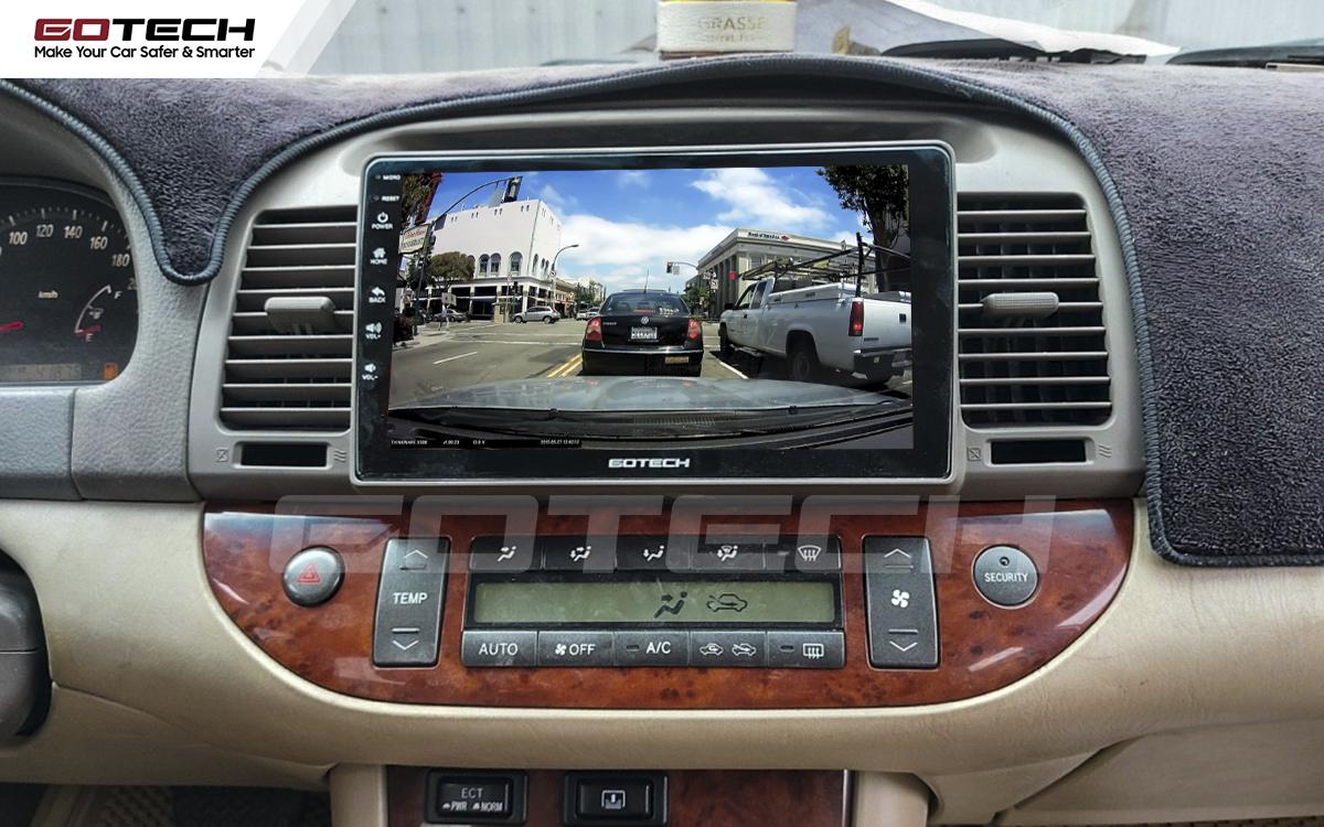 Kết nối với camera hành trình trên màn hình android GOTECH cho xe Toyota Camry 2003-2006