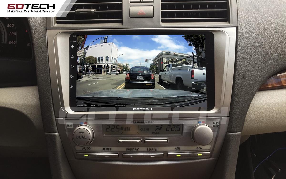 Kết nối với camera hành trình trên màn hình android GOTECH cho xe Toyota Camry 2007-2012