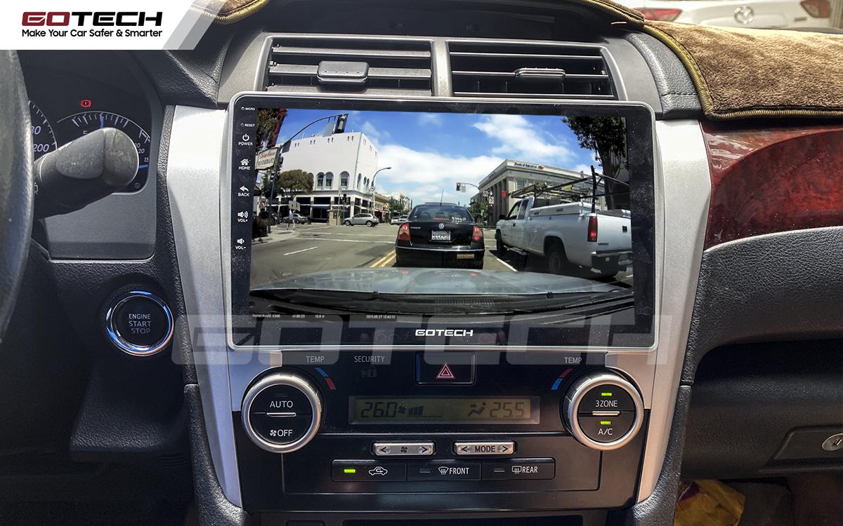 Kết nối với camera hành trình trên màn hình android GOTECH cho xe Toyota Camry 2013-2014
