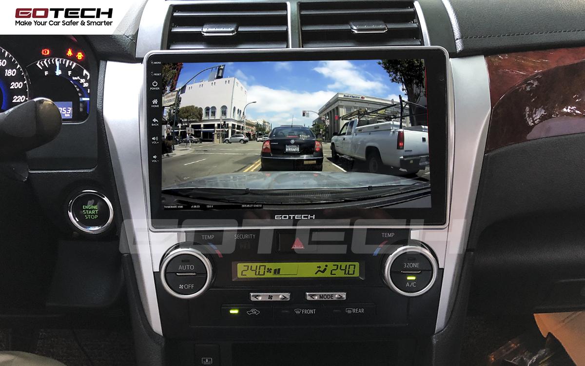 Kết nối với camera hành trình trên màn hình android GOTECH cho xe Toyota Camry 2015-2018