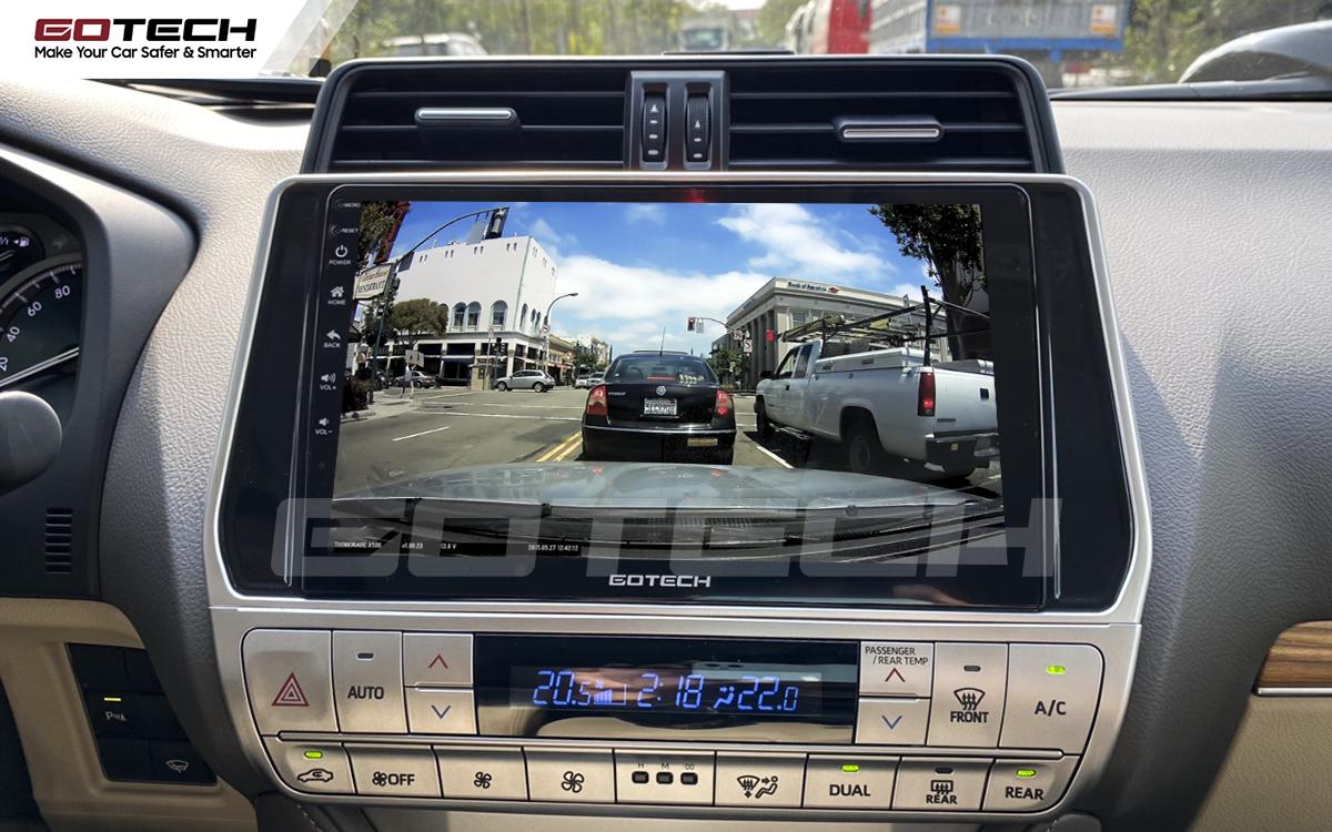 Kết nối với camera hành trình trên màn hình android GOTECH cho xe Toyota Prado 2017-2020