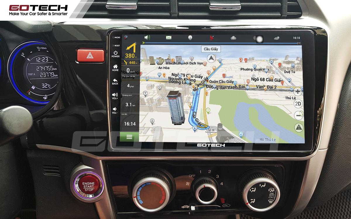 Tích hợp các bản đồ dẫn đường thông minh và thao tác dễ dàng cho xe Honda City 2014-2020