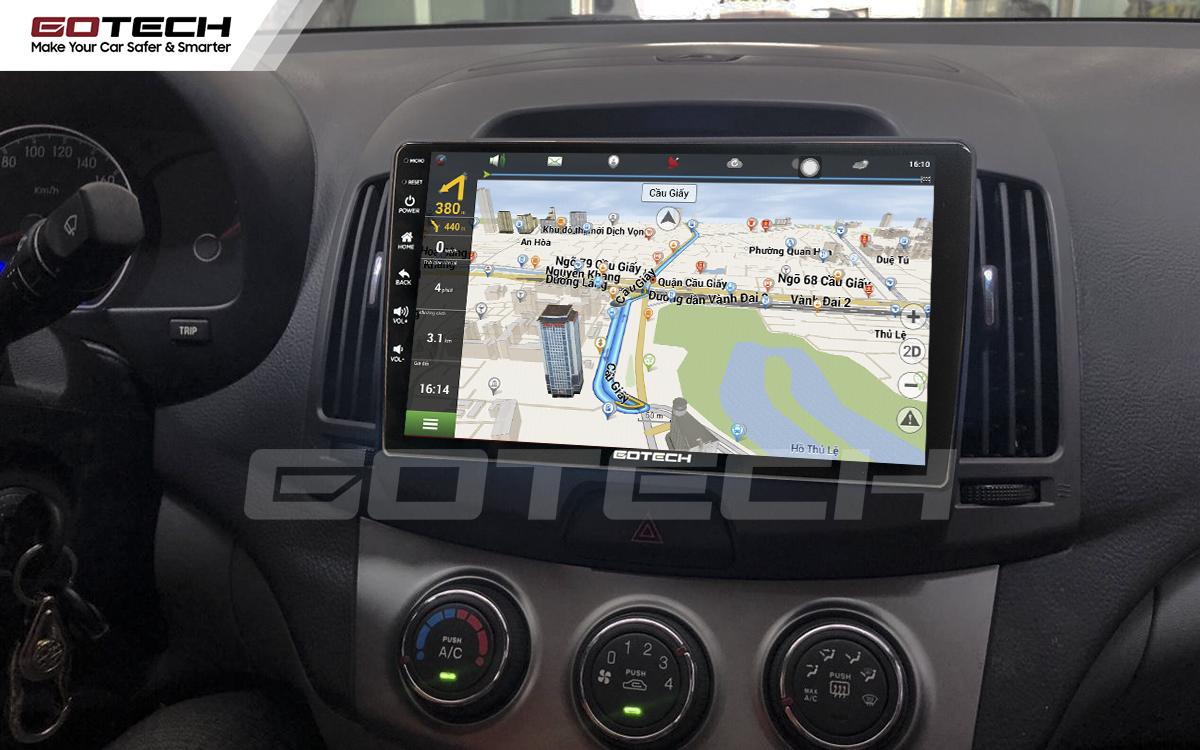 Tích hợp các bản đồ dẫn đường thông minh và thao tác dễ dàng cho xe Hyundai Avante 2008-2016