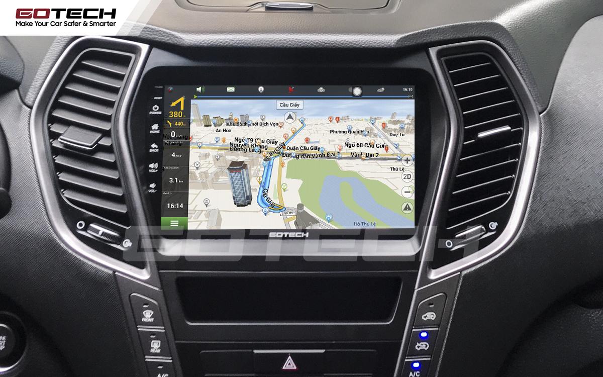 Tích hợp các bản đồ dẫn đường thông minh và thao tác dễ dàng cho xe Hyundai Santafe 2015-2018