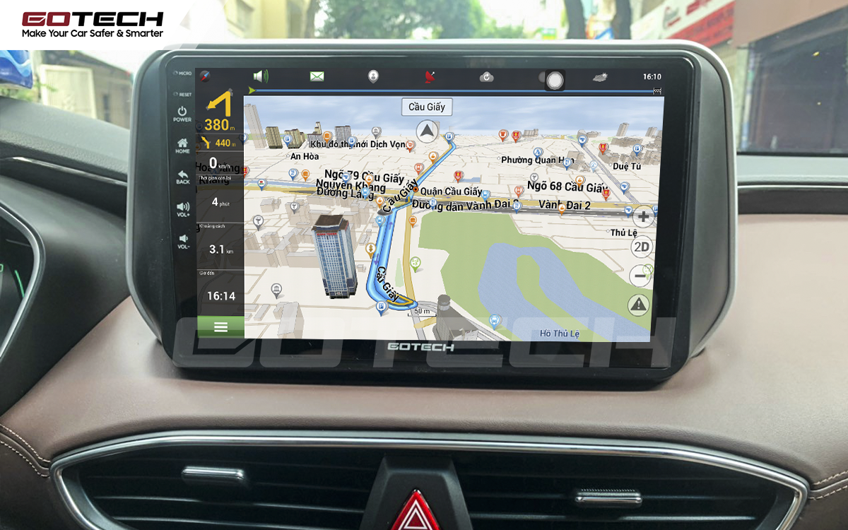 Tích hợp các bản đồ dẫn đường thông minh và thao tác dễ dàng cho xe Hyundai Santafe 2019-2020