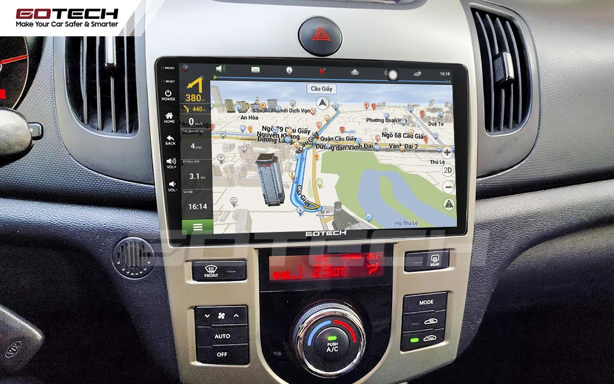 Tích hợp các bản đồ dẫn đường thông minh và thao tác dễ dàng cho xe Kia Forte 2008-2013