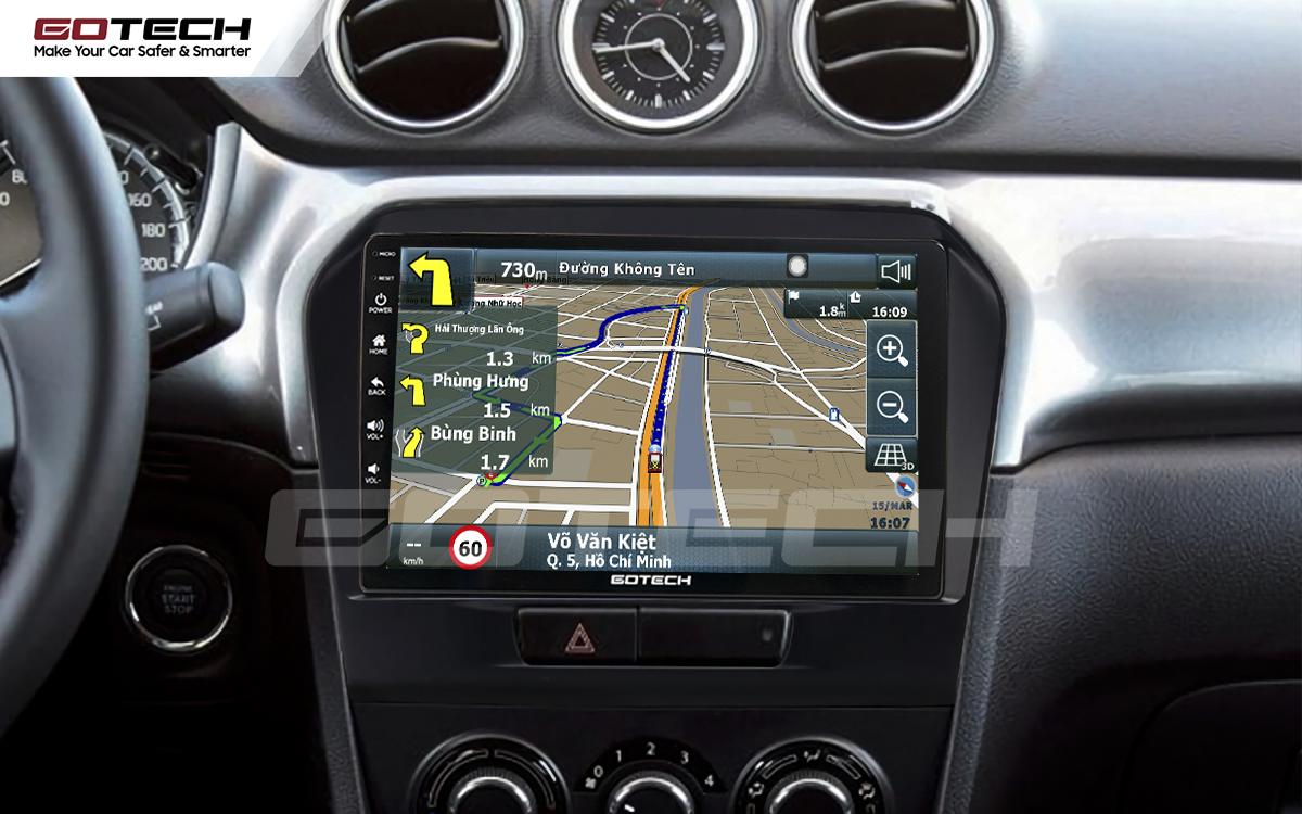 Tích hợp các bản đồ dẫn đường thông minh và thao tác dễ dàng cho xe Suzuki Vitara 2016-2018