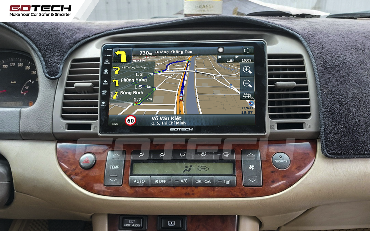 Tích hợp các bản đồ dẫn đường thông minh và thao tác dễ dàng cho xe Toyota Camry 2003-2006