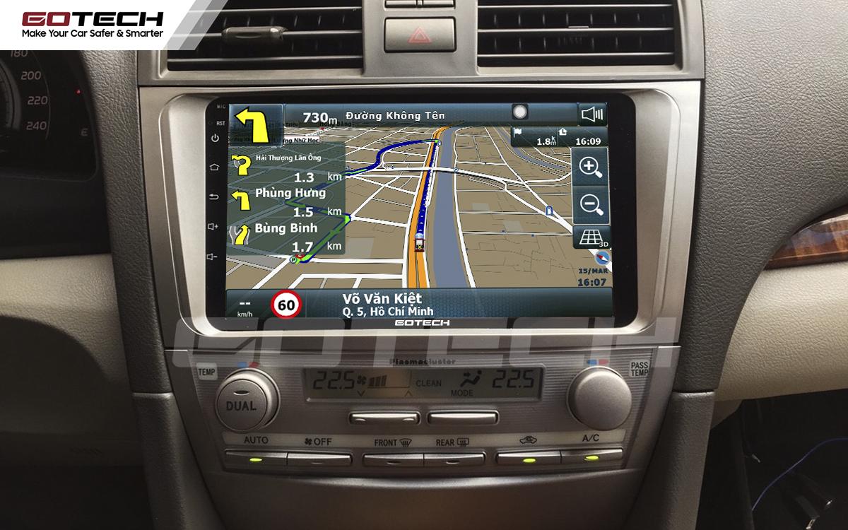 Tích hợp các bản đồ dẫn đường thông minh và thao tác dễ dàng cho xe Toyota Camry 2007-2012