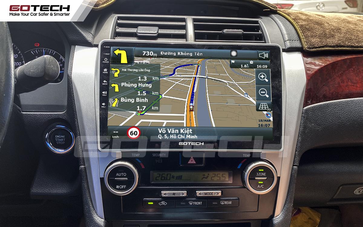 Tích hợp các bản đồ dẫn đường thông minh và thao tác dễ dàng cho xe Toyota Camry 2013-2014