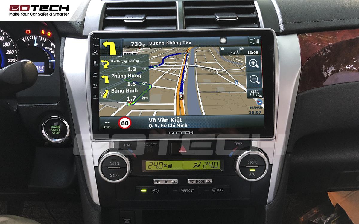 Tích hợp các bản đồ dẫn đường thông minh và thao tác dễ dàng cho xe Toyota Camry 2015-2018