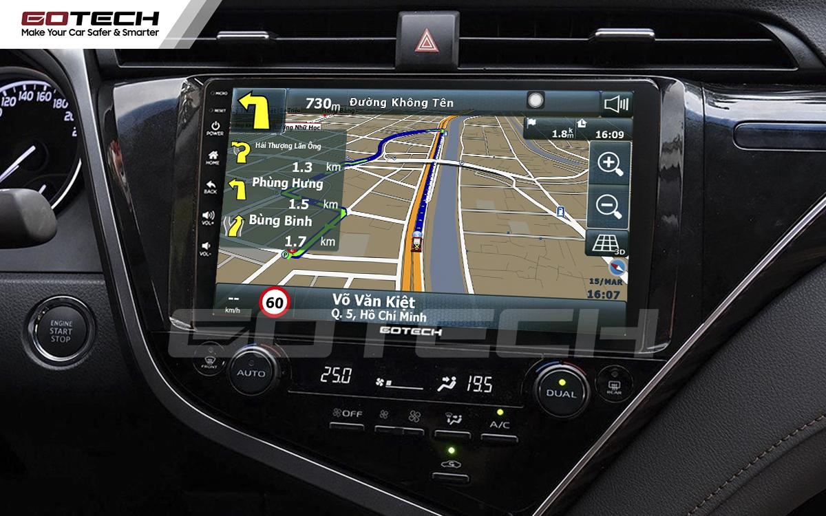 Tích hợp các bản đồ dẫn đường thông minh và thao tác dễ dàng cho xe Toyota Camry 2019-2020