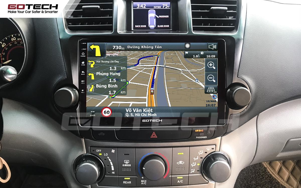 Tích hợp các bản đồ dẫn đường thông minh và thao tác dễ dàng cho xe Toyota Highlander 2009-2013