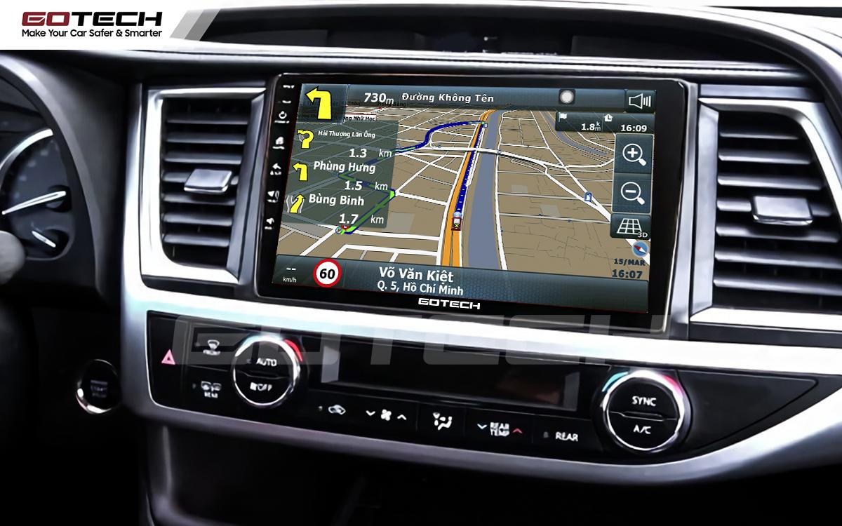Tích hợp các bản đồ dẫn đường thông minh và thao tác dễ dàng cho xe Toyota Highlander 2015-2018