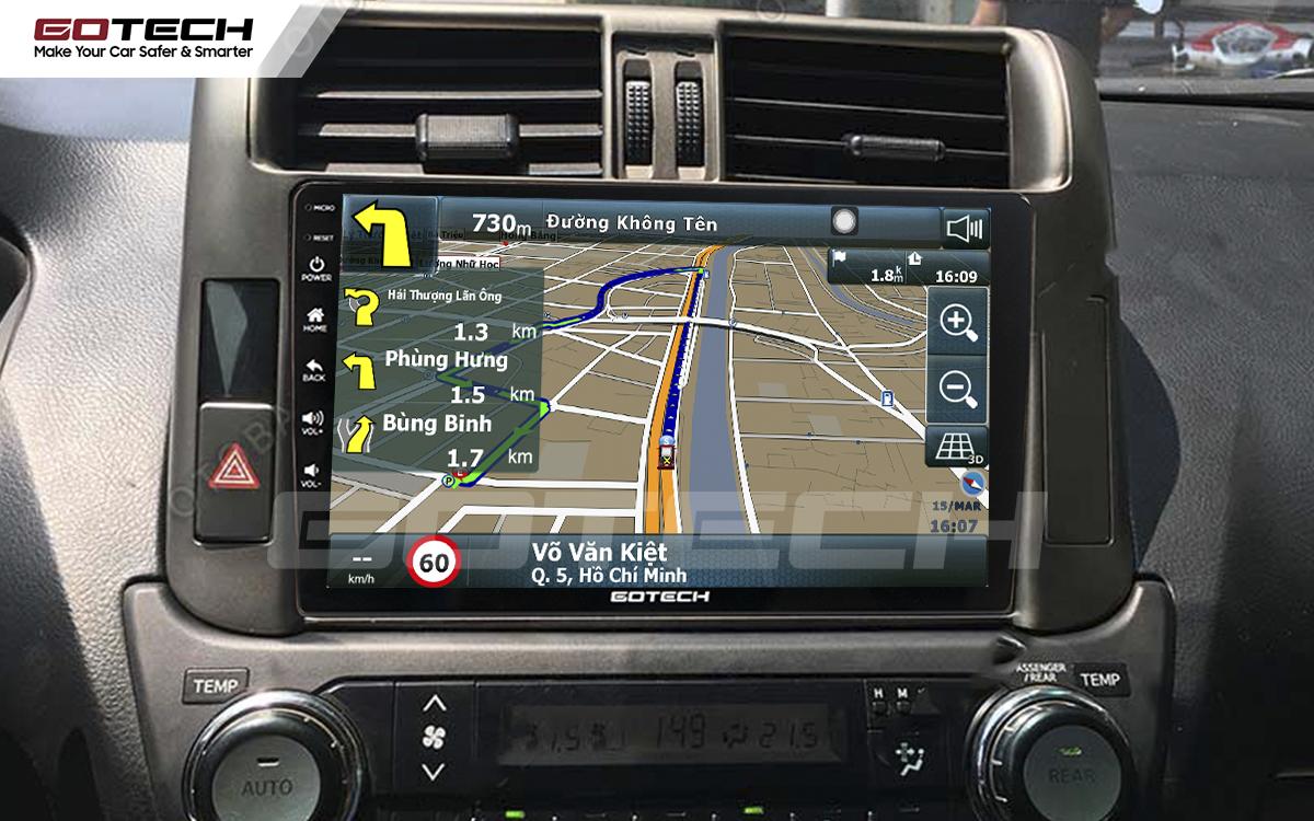 Tích hợp các bản đồ dẫn đường thông minh và thao tác dễ dàng cho xe Toyota Prado 2010-2013