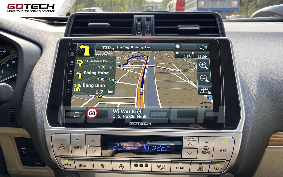 Tích hợp các bản đồ dẫn đường thông minh và thao tác dễ dàng cho xe Toyota Prado 2017-2020