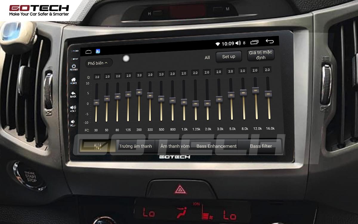 Bộ xử lý âm thanh số DSP - Equalizer trên màn hình ô tô thông minh GOTECH