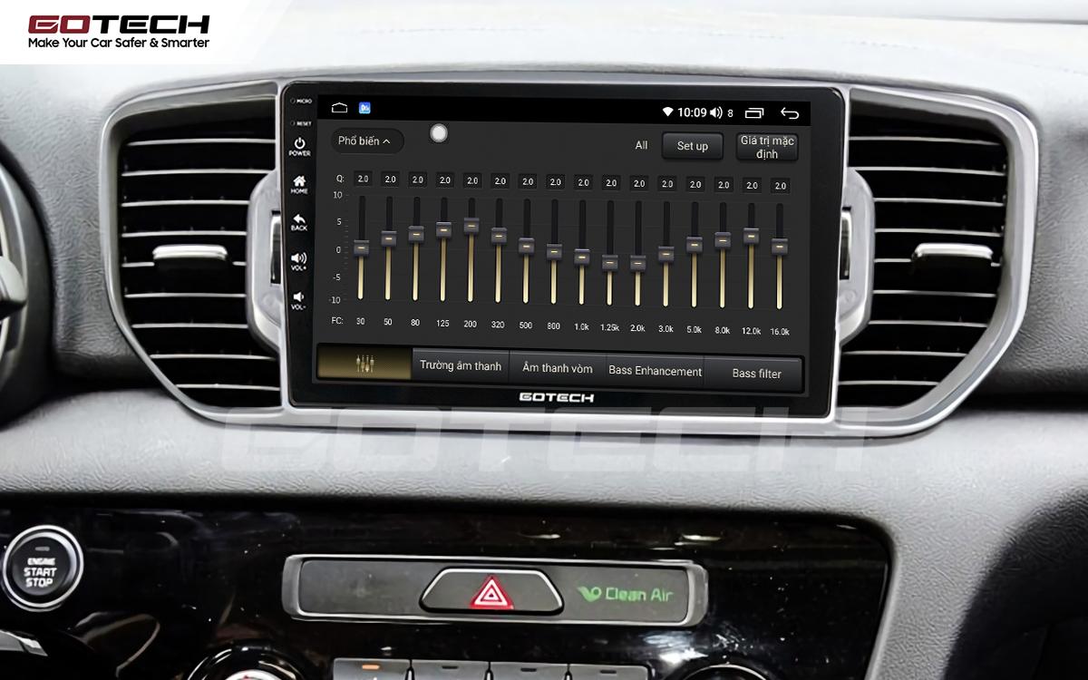 Hệ thống âm thanh DSP sống động ngay trên màn hình ô tô GOTECH cho xe Kia Sportage