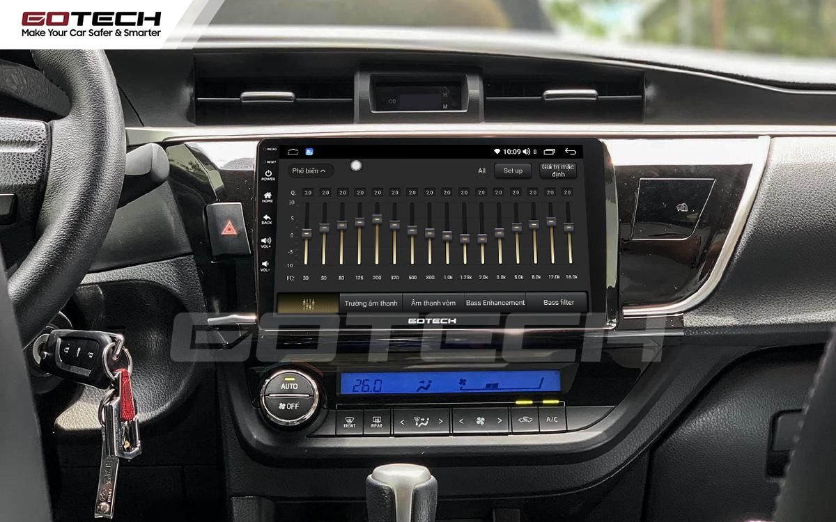 Bộ xử lý âm thanh chất lượng cao trên màn hình ô tô GOTECH cho xe Altis 2014 - 2017