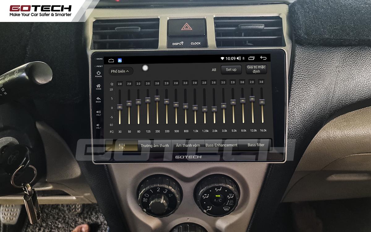 Bộ xử lý âm thanh số 32 kênh trên màn hình ô tô GOTECH cho xe Toyota Vios