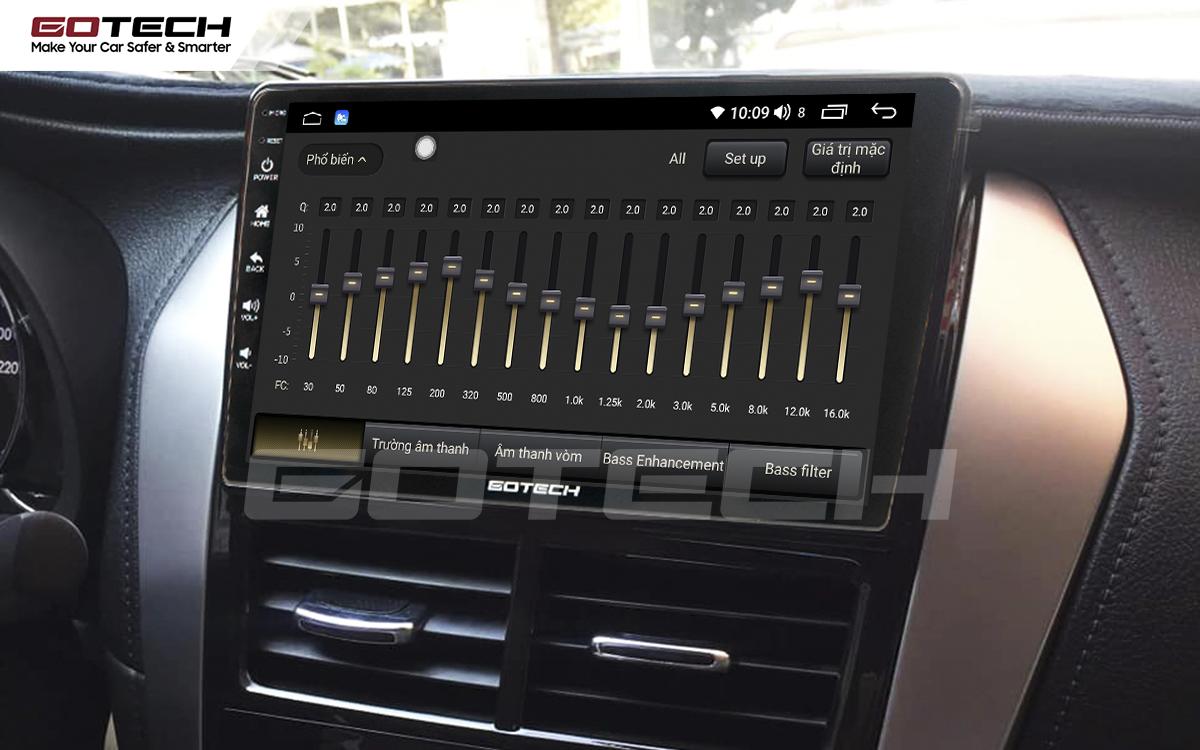 Bộ xử lý âm thanh chất lượng cao trên màn hình ô tô GOTECH cho xe Vios E 2019 - 2020