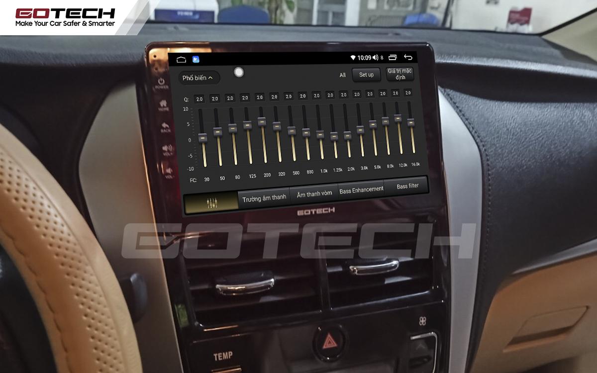 Bộ xử lý âm thanh chất lượng cao trên màn hình ô tô GOTECH cho xe Toyota Vios