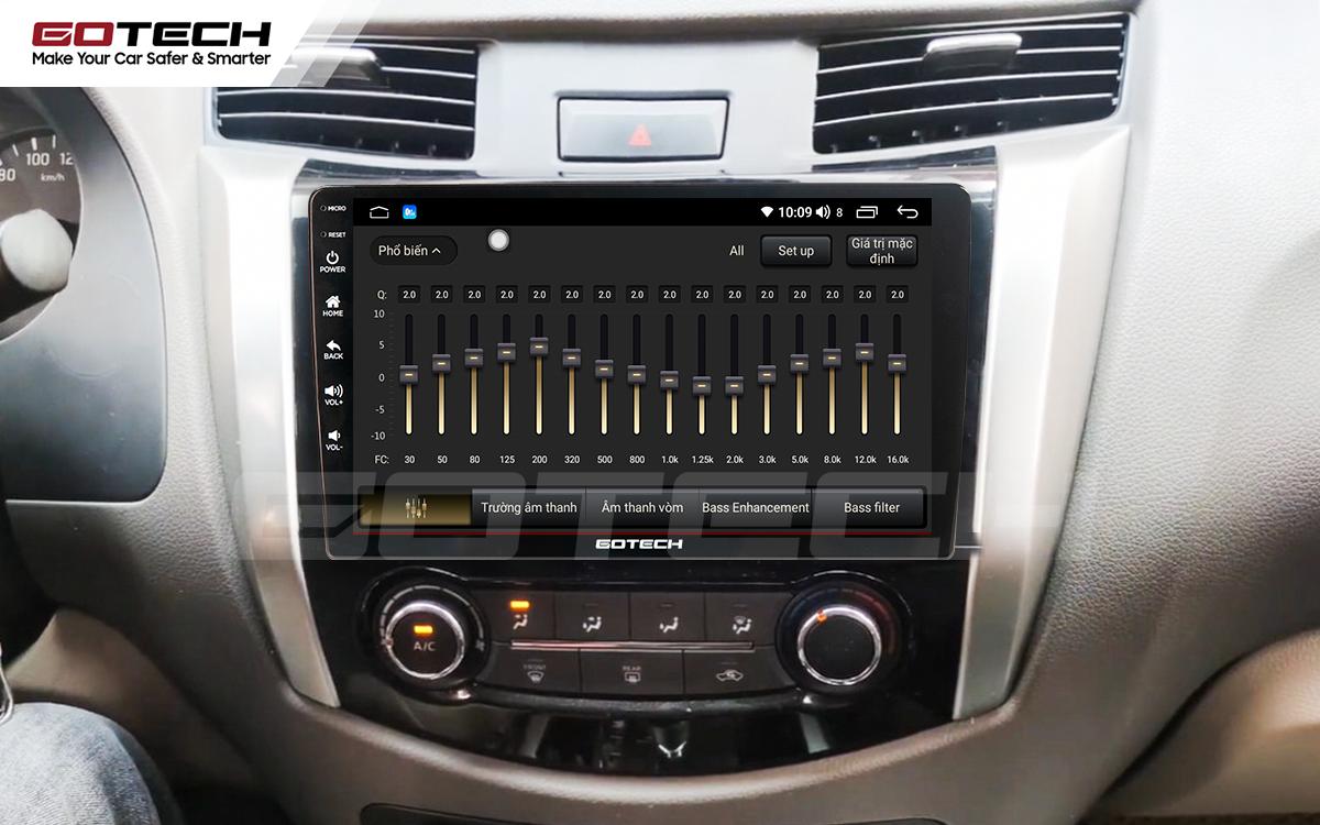 Bộ xử lý âm thanh DSP trên màn hình ô tô GOTECH cho xe Nissan Navara