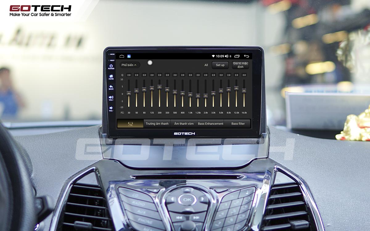 Bộ xử lý tín hiệu âm thanh DSP 32 kênh trên màn hình GOTECH cho xe Ford Ecosport 2014-2017
