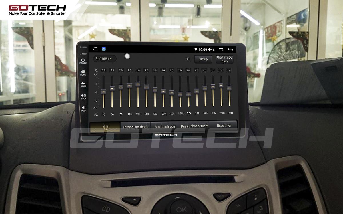 Bộ xử lý tín hiệu âm thanh DSP 32 kênh trên màn hình GOTECH cho xe Ford Fiesta 2011-2018