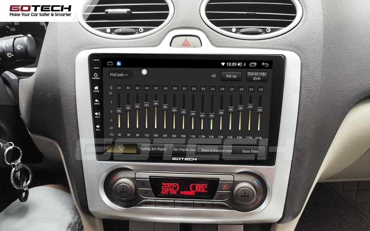 Bộ xử lý tín hiệu âm thanh DSP 32 kênh trên màn hình GOTECH cho xe Ford Focus 2005-2012
