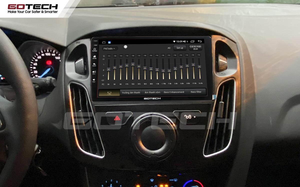 Bộ xử lý tín hiệu âm thanh DSP 32 kênh trên màn hình GOTECH cho xe Ford Focus 2014-2018