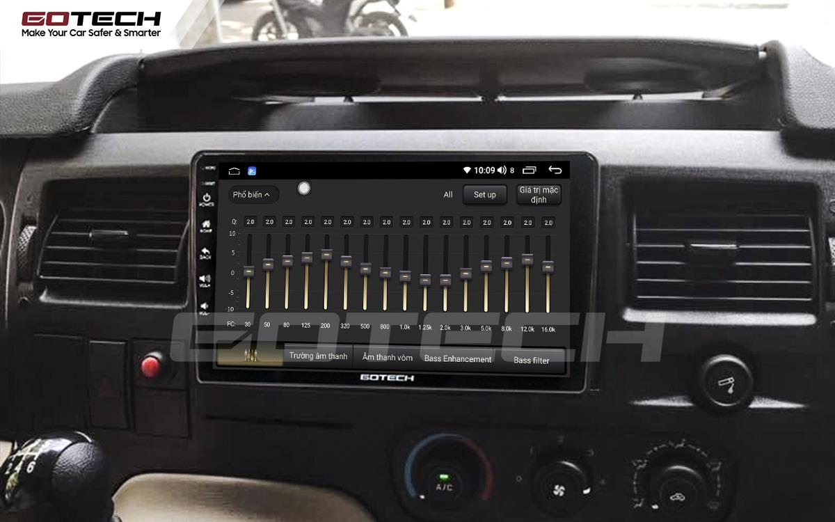 Bộ xử lý tín hiệu âm thanh DSP 32 kênh trên màn hình GOTECH cho xe Ford Transit