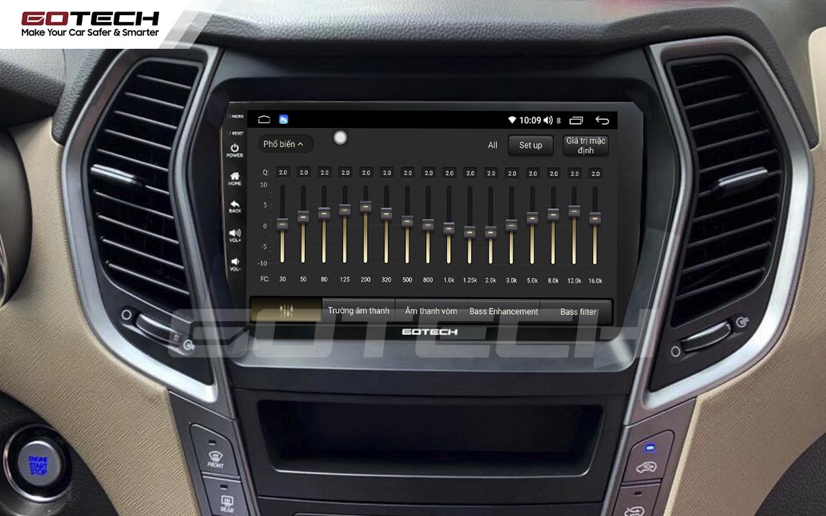 Bộ xử lý tín hiệu âm thanh DSP 32 kênh trên màn hình GOTECH cho xe Hyundai Santafe 2013-2014