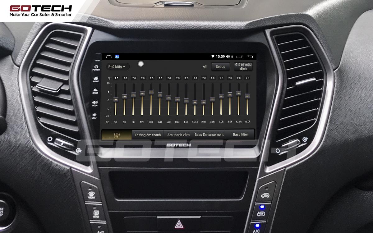 Bộ xử lý tín hiệu âm thanh DSP 32 kênh trên màn hình GOTECH cho xe Hyundai Santafe 2015-2018