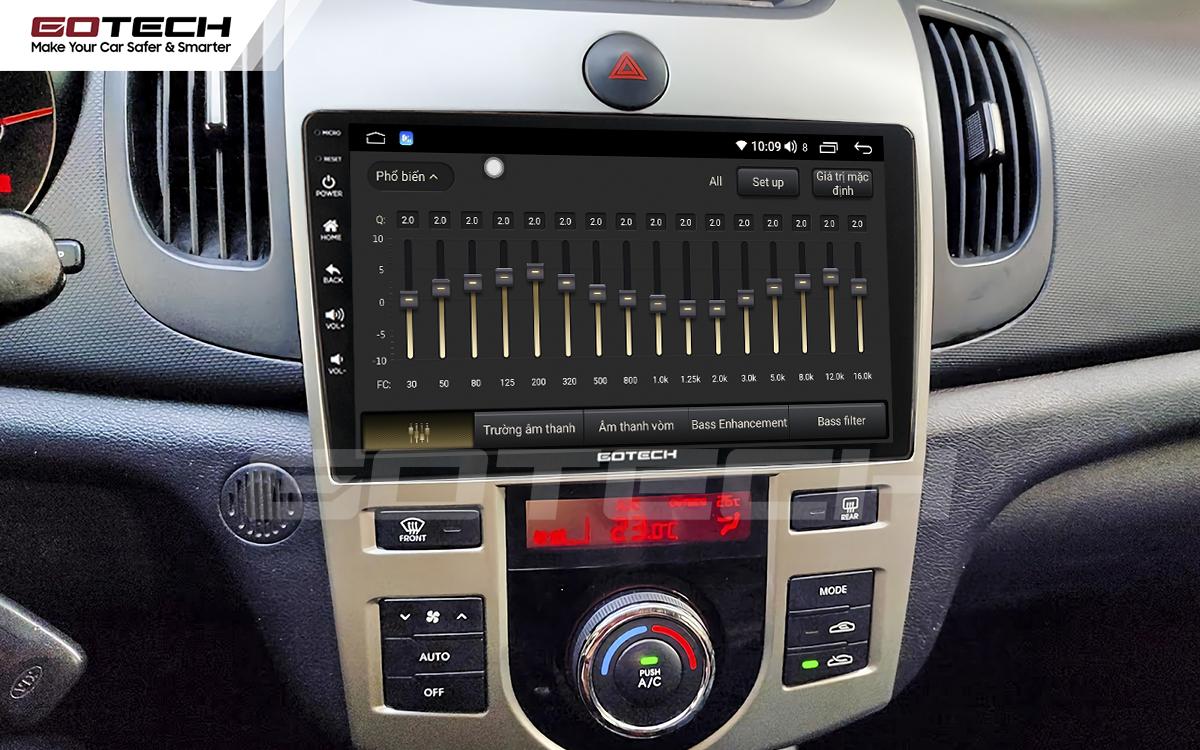 Bộ xử lý tín hiệu âm thanh DSP 32 kênh trên màn hình GOTECH cho xe Kia Forte 2008-2013