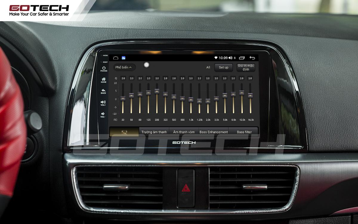 Bộ xử lý tín hiệu âm thanh DSP 32 kênh trên màn hình GOTECH cho xe Mazda Cx5 2013-2015