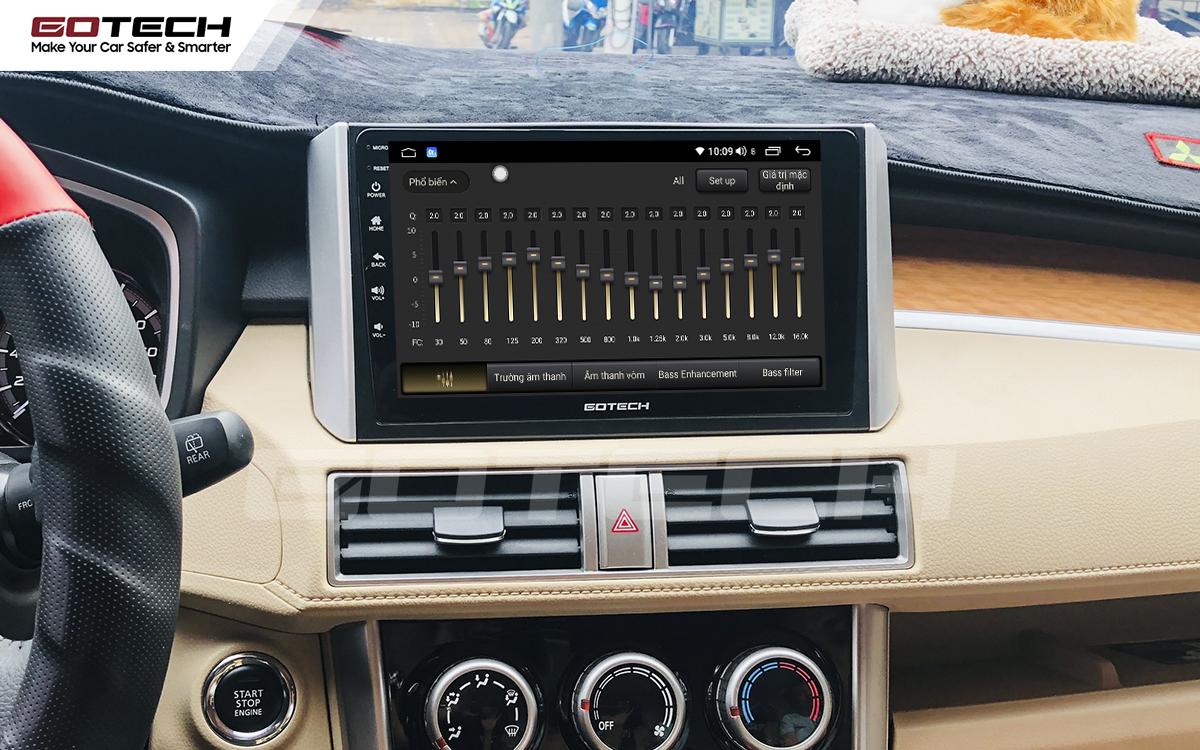 Bộ xử lý tín hiệu âm thanh DSP 32 kênh trên màn hình GOTECH cho xe Mitsubishi Xpander 2018-2020