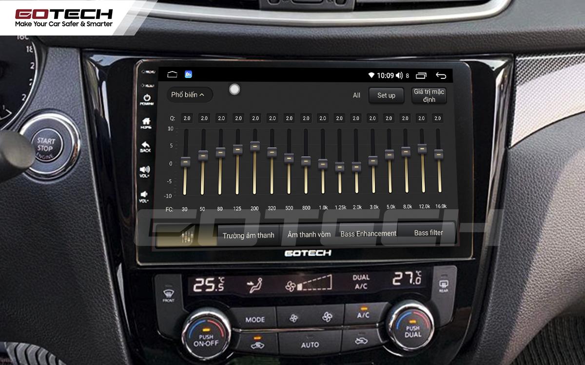 Bộ xử lý tín hiệu âm thanh DSP 32 kênh trên màn hình GOTECH cho xe Nissan Xtrail 2016-2020