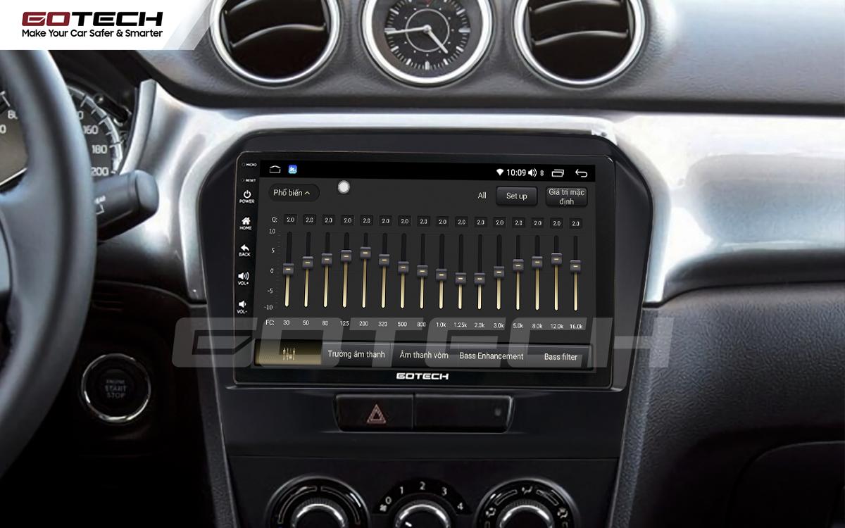 Bộ xử lý tín hiệu âm thanh DSP 32 kênh trên màn hình GOTECH cho xe Suzuki Vitara 2016-2018