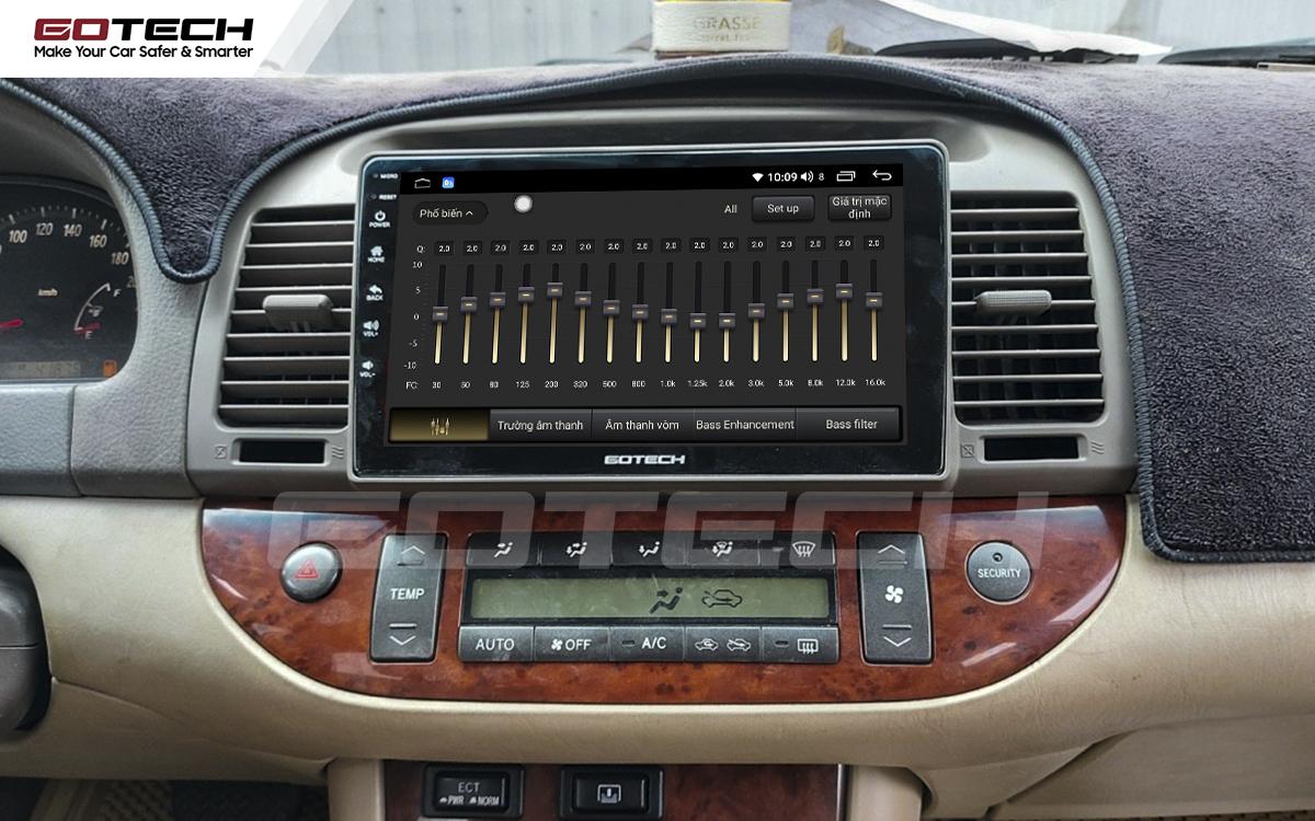 Bộ xử lý tín hiệu âm thanh DSP 32 kênh trên màn hình GOTECH cho xe Toyota Camry 2003-2006